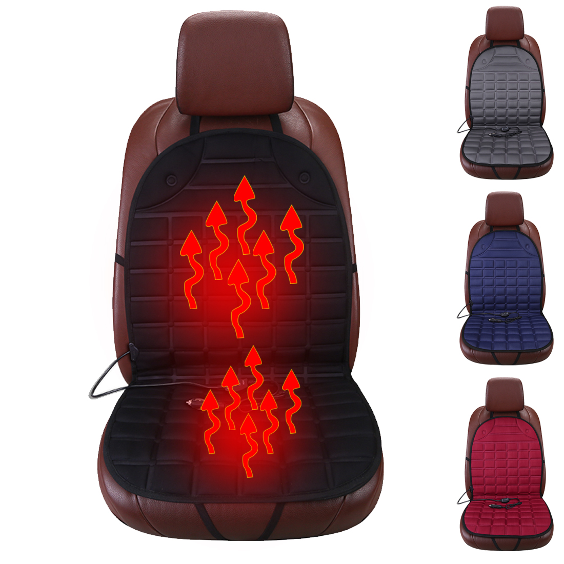 Dewtreetali 12v Electric Heated Car Seat Cushions for Winter Heating Car Seat Cushion Keep Warm Car Seat Cover Comfortable ...