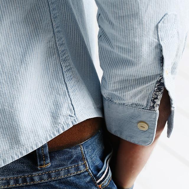 Casual Long Sleeve Striped High Quality Shirt 4