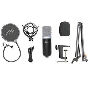 Image 5 - UHURU USB Podcast kondenser mikrofon 192kHZ/24bit profesyonel PC akış kardioid mikrofon kiti Youtube dizüstü bilgisayar Karaoke