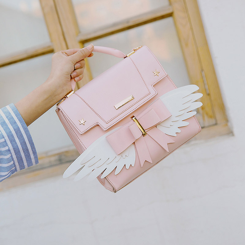 Cute Pink Single-shouldered Bag with Wings, Necessary for Lovely Girls цены онлайн
