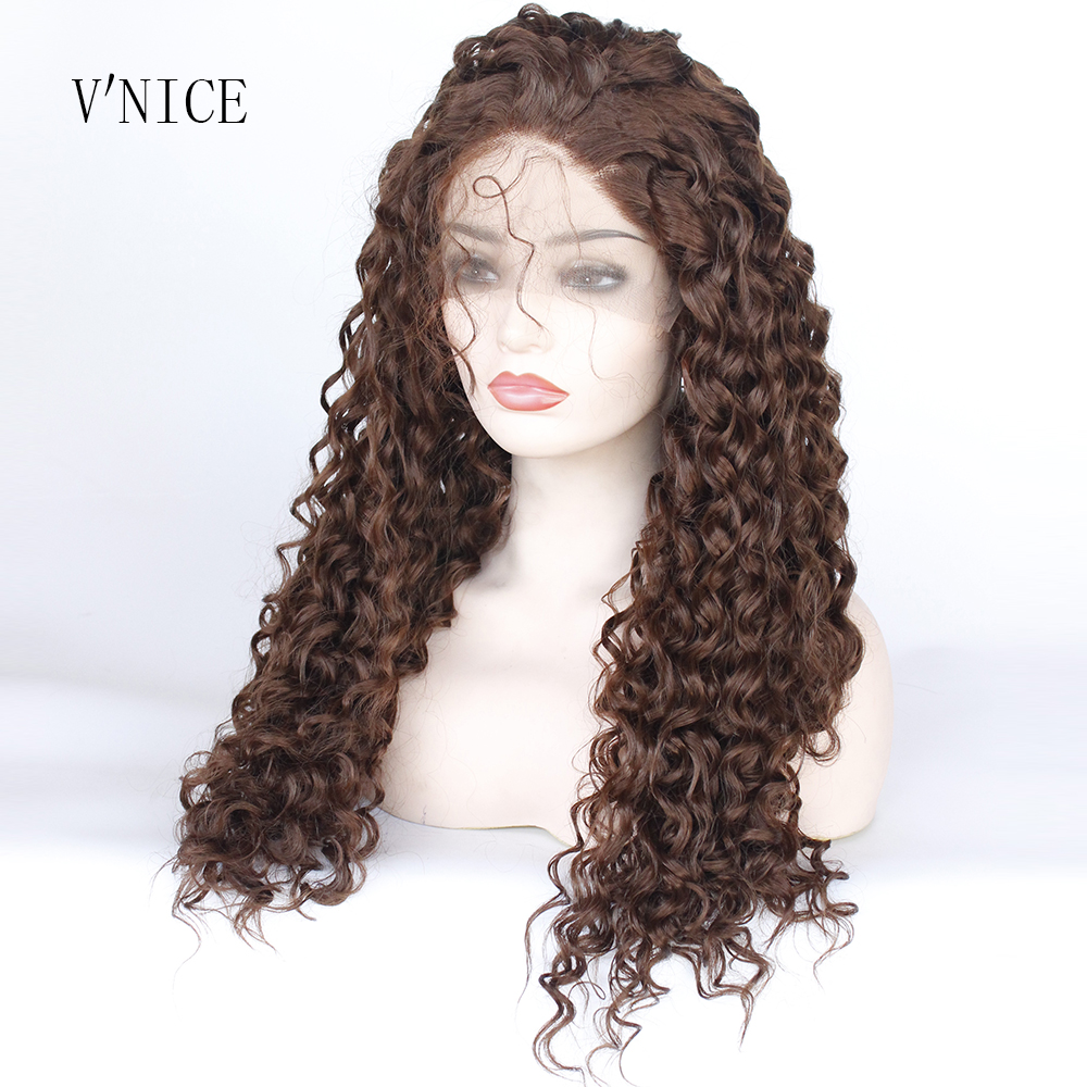 Synthetic None-lacewigs Fast Deliver Mrwig Real Hair Medium Grey Kinky Curly Middle Part Front Lace Wig Glueless 24inch 180%density 350g Can Heat Can Do Style Synthetic Wigs