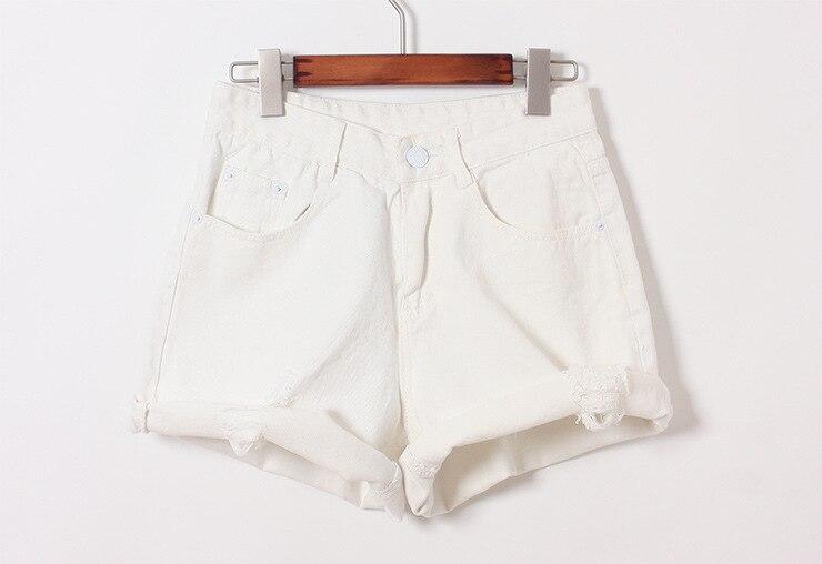 Vente chaude 2015 Nouvelle Mode Casual Euramerican Sexy Pantalones Cortos  Mujer Jeans Skinny Taille Haute Denim Déchiré Shorts Pour Femmes edd4b2882fa