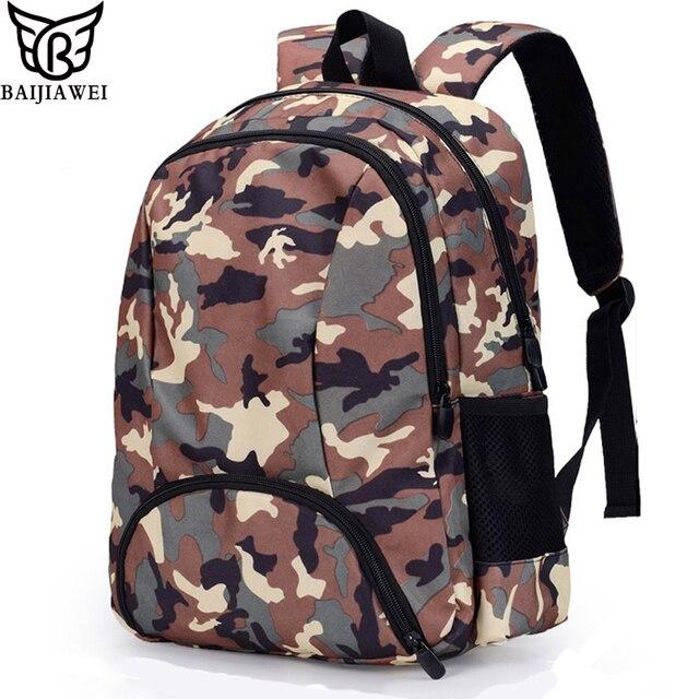fa8093fe16c2 BAIJIAWEI Children School Bags Children Backpacks Kids School Leisure  Camouflage Bag Boy Girl Double Shoulder Backpack