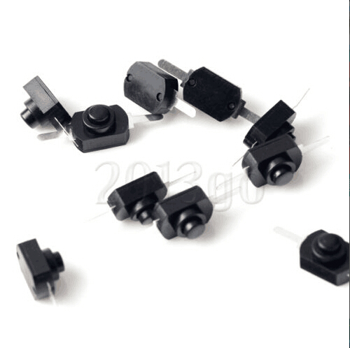 20PCS/LOT DC 30V 1A Black On Off Mini Push Button Switch For Electric Torch