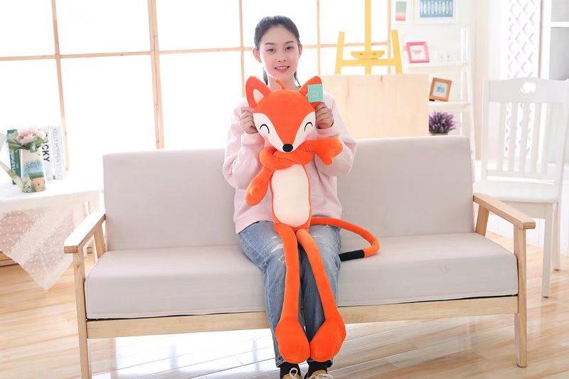 big plush lovely fox toy stuffed orange fox pillow doll gift about 100cm patons fab big neon orange 8279