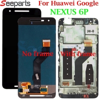 Huawei Google NEXUS 6P LCD Display Touch Screen Digitizer Panel Assembly With Frame Replacement For 5.7 Huawei Nexus 6p LCD
