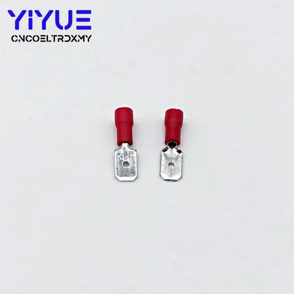 6.3mm 22-16AWG Female Male Electrical Wiring Connector Insulated Crimp Terminal (3)
