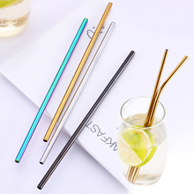 Beverage Tube Reusable Straws+Brush Stainless Steel Tool Sturdy Straw Party Portable Set Drop Shipping