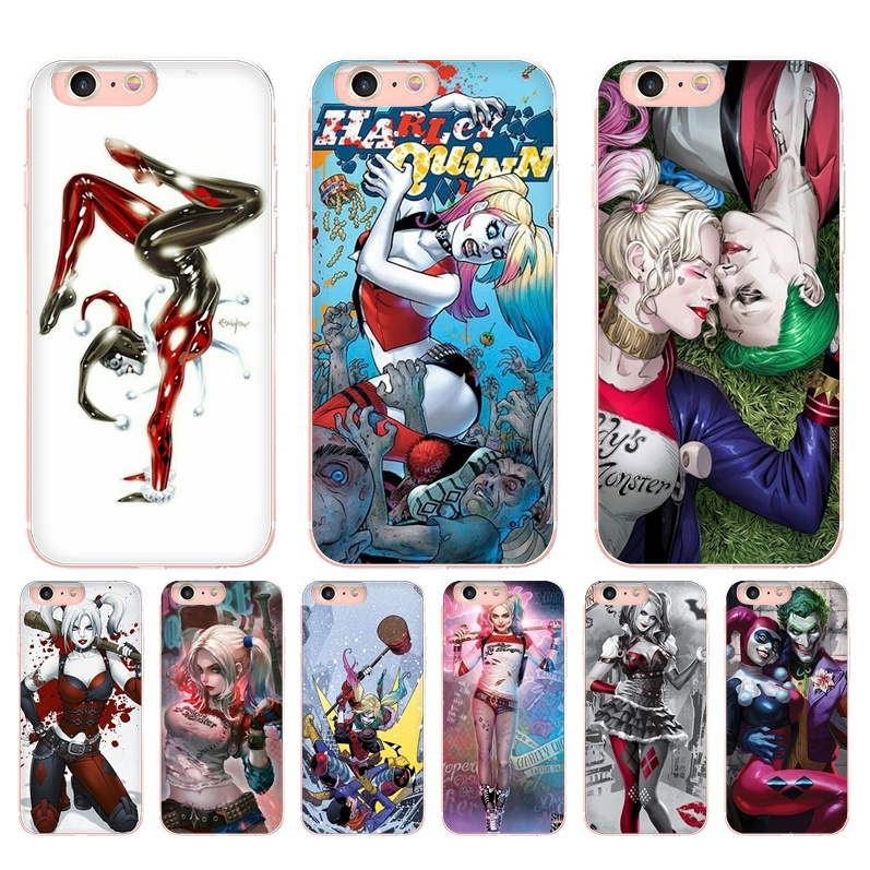 Us 121 39 Offmaiyaca Harley Quinn Wallpaper Colorful Cute Phone Accessories Case For Iphone 8 7 6 6s Plus 5 5s Se 5c Coque Shell In Half Wrapped