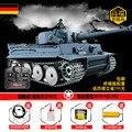 Henglong tanque pesado Alemán Tiger I super control remoto modelo de tanque de metal rueda de carretera 3818-1