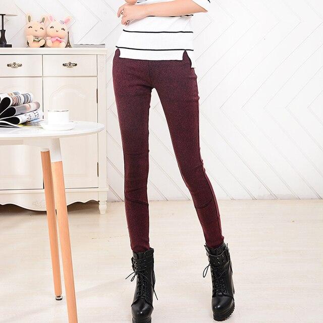 BIVIGAOS Hot Sale Spring Autumn Fashion Washed Denim Pencil Pants Skinny Slim Hip Jeans Leggings Female Thin Jeggings For Women 4