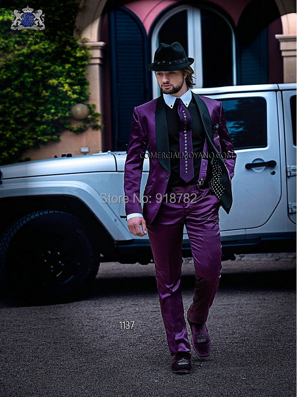 Black And Purple Prom Suit - Go Suits