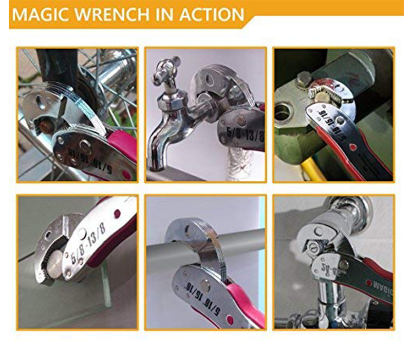 KALAIDUN Adjustable Wrench Multitul 9-45mm Torque Ratchet Socket Universal Key Magic Spanner Key Sets Repair Hand Tools For Home9