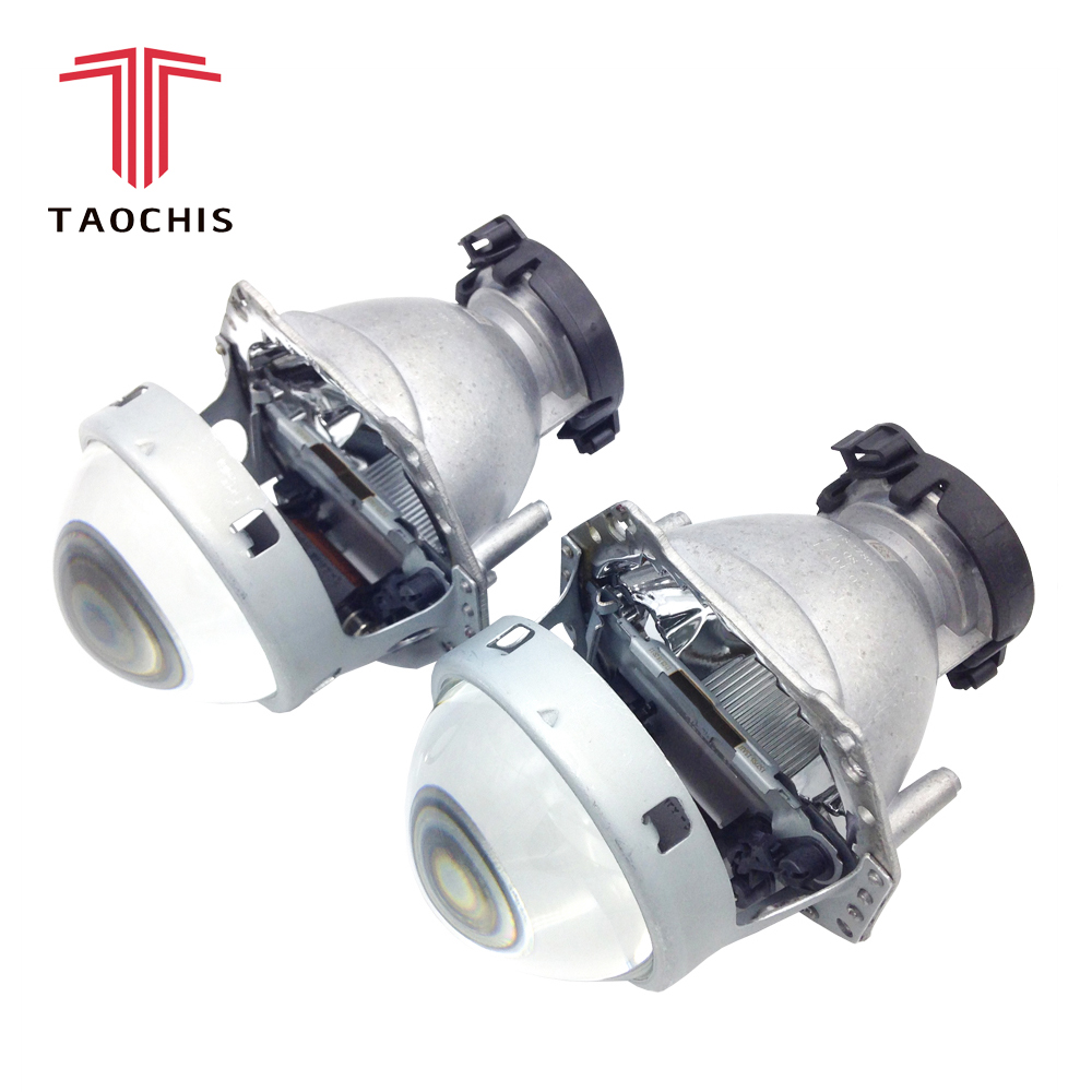 TAOCHIS 2 pcs Auto Car Farol 3.0 polegada lente Do Projetor Bi-xenon Hella 3R G5 5 Car styling Retrofit luz principal Modificar D2s