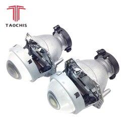 TAOCHIS 2pcs Auto Car Headlight 3.0 inch Bi-xenon Hella 3R G5 5 Projector lens Car styling Retrofit head light Modify D2s