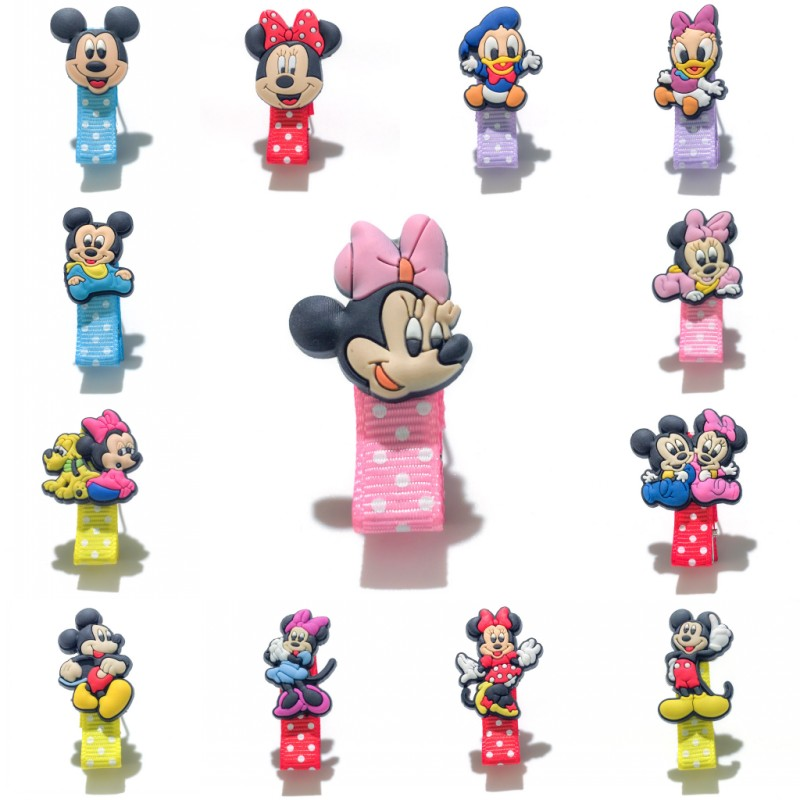 1pcs Mickey Cartoon Dot Print Hairpins Hair Clips Cute Minnie Hair Accessories for Baby Girls Hair Protect   Headwear   Kid Gifts