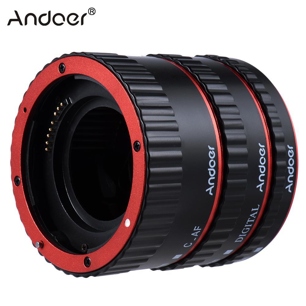 Prix pour Andoer Coloré Métal TTL Autofocus AF Macro Extension Tube Anneau pour Canon EOS EF EF-S 60D 7D 5D II 550D Rouge