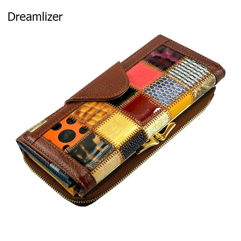 3 Fold Fashion Genuine Leather Women Wallets Patchwork Hasp Coin Pocket Female Clutch Carteira Feminina Women Purse Wallet