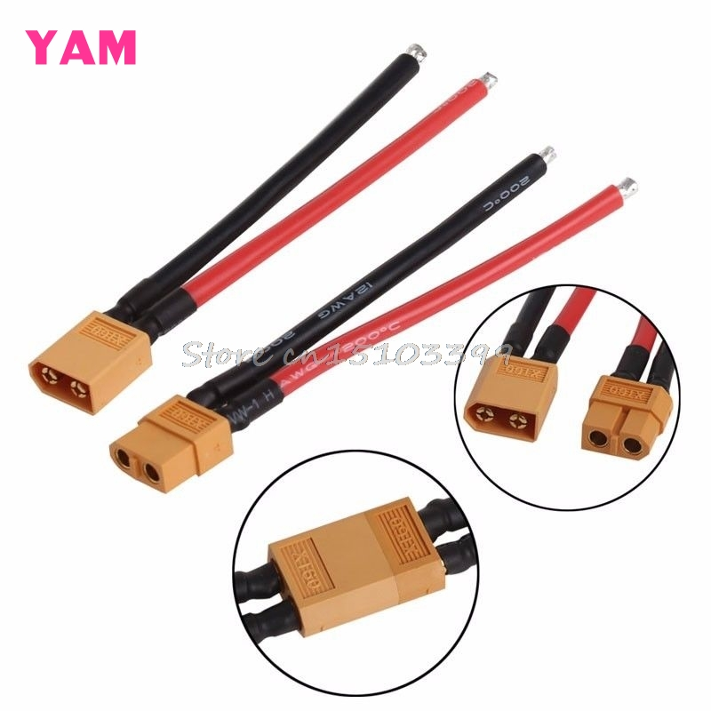 1 Pair Battery XT60 Connector Male Cable Female Plug Wire 10