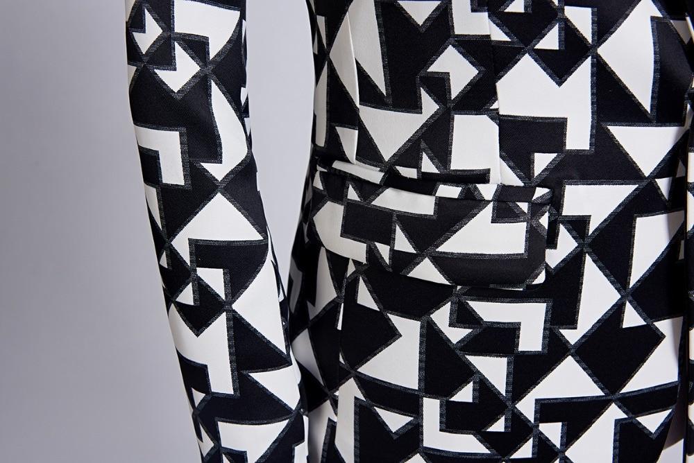 b06cc83a2dc6d4 Großhandel Carffi Neue Männer Mode Schwarz Weiß Dreieck Muster ...