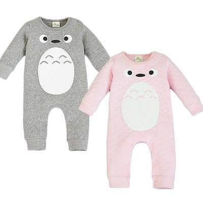 toddler 100% Cotton Baby Boys Girls Clothes Baby Rompers Cartoon Totoro Jumpsuit Newborn Infant Clothing For Autumn Spring newborn baby girls rompers 100% cotton long sleeve angel wings leisure body suit clothing toddler jumpsuit infant boys clothes