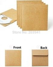 Lote de 50 unidades de sobres de papel Kraft clásico, bolsa de papel de disco óptico para CD/bolsa de DVD/bolsa de regalo/sobre artesanal