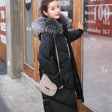 Зимнее пальто для беременных женщин, для беременных женщин, хлопковое черное пальто большого размера, пальто с воротником, длинная куртка с капюшоном