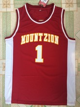a328937a BONJEAN Men Cheap Throwback Basketball Jerseys 1 T-Mac Tracy McGrady Red Jersey  Mount Zion