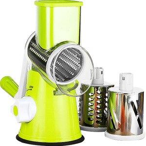 Image 4 - Manual Vegetable Cutter Slicer Kitchen Accessories Multifunctional Round Mandoline Slicer Potato Cheese Kitchen Gadgets