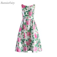 d09b411937355 BunniesFairy 2018 Autumn Celebrity-inspired Women Vintage Retro Pink Rose  Vest Dress