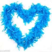 5 шт./лот цвет небесно-синий/бирюзовый цвет; обувь синего цвета боа из пера индейки перо индейки полоса 40 г пушистые для декорирования вестибюлей боа из перьев индейки P151