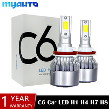 2Pcs H4 LED H7 H11 H8 9006 HB4 H1 H3 9005 HB3 880 881 H9 H27 Car Headlight Bulbs LED Lamp with 8000LM Auto Fog Lights 6000K 12V