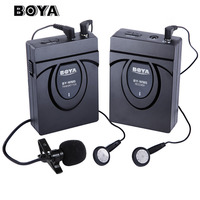 BOYA BY WM5 wireless microphone Wireless Lavalier Microphone System for Canon SONY DSLR Camera Camcorders Audio Recorder