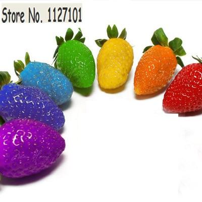 Gemeinsame 500 STÜCK Regenbogen Erdbeeren Samen Multicolor Regenbogen @VH_69