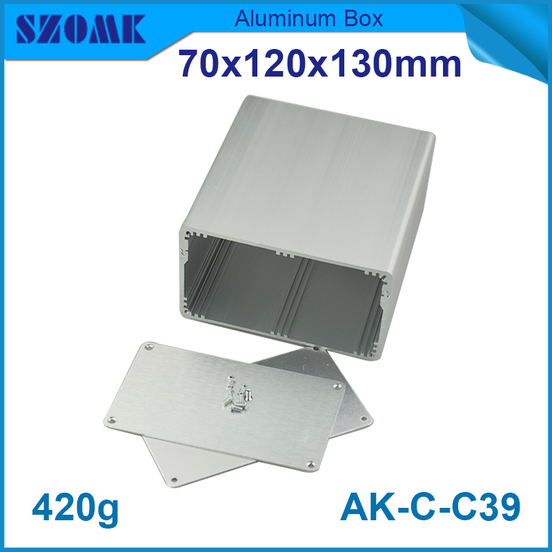 1 piece free shipping silver aluminium color aluminum project enclosure box instrument enclosure70*120*130mm 2.76*4.72*5,12inch aluminum electrolytic capacitor for diy project 120 piece pack