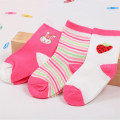3 pairs/pack 100% cotton spring autumn winter unisex soft comfortable rainbow colors 0-3 years baby socks ATWS0100