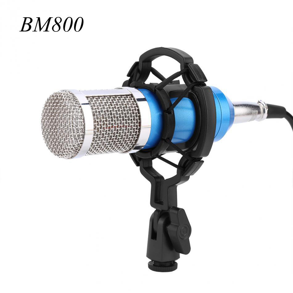 bm 800 pro hifi stereo audio condenser microphone set studio sound recording mic with shock. Black Bedroom Furniture Sets. Home Design Ideas
