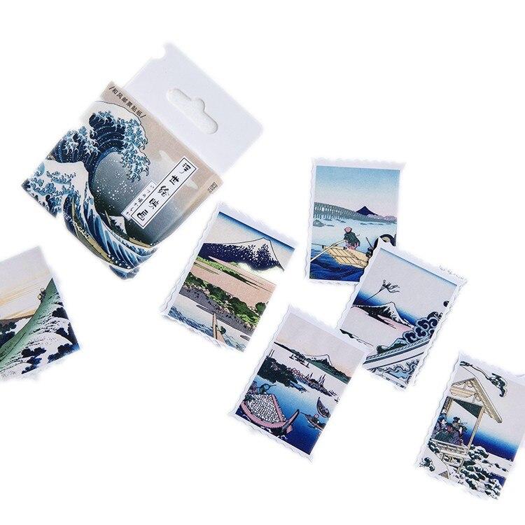 45 шт./кор. японский вид этикетка наклейки декоративные канцелярские наклейки Скрапбукинг Diy дневник альбом ярлыком - Цвет: A