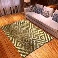 Скандинавские геометрические коврики для гостиной  мягкая фланелевая с принтом 3D ковры для йоги  фитнеса  Противоскользящие коврики  креат...