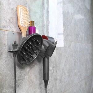 Image 5 - BUBM Dyson Supersonic Haar Trockner Wand Halterung, Aluminium Legierung Aufhänger Halterung für Dyson Haar Trockner, diffusor und Zwei Düsen
