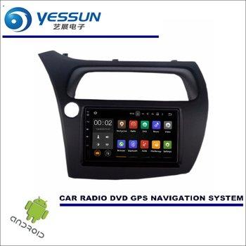 YESSUN Android Car Multimedia Navigation For Honda Civic 2006-2012 Hatchback CD DVD GPS Player Navi Radio Stereo HD Screen jc 20130709 1