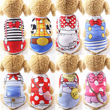 12 Patterns Cartoon Summer Dog Clothes Puppy Shirts Chihuahua Teddy Pet For Small Dogs Cute Cat Vest Shirt Clothing