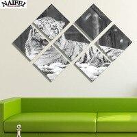 7 Pcs Diamond Painting White Tiger Painting Animals Cross Stitch Multi Picture Diy Diamond Embroidery Mosaic