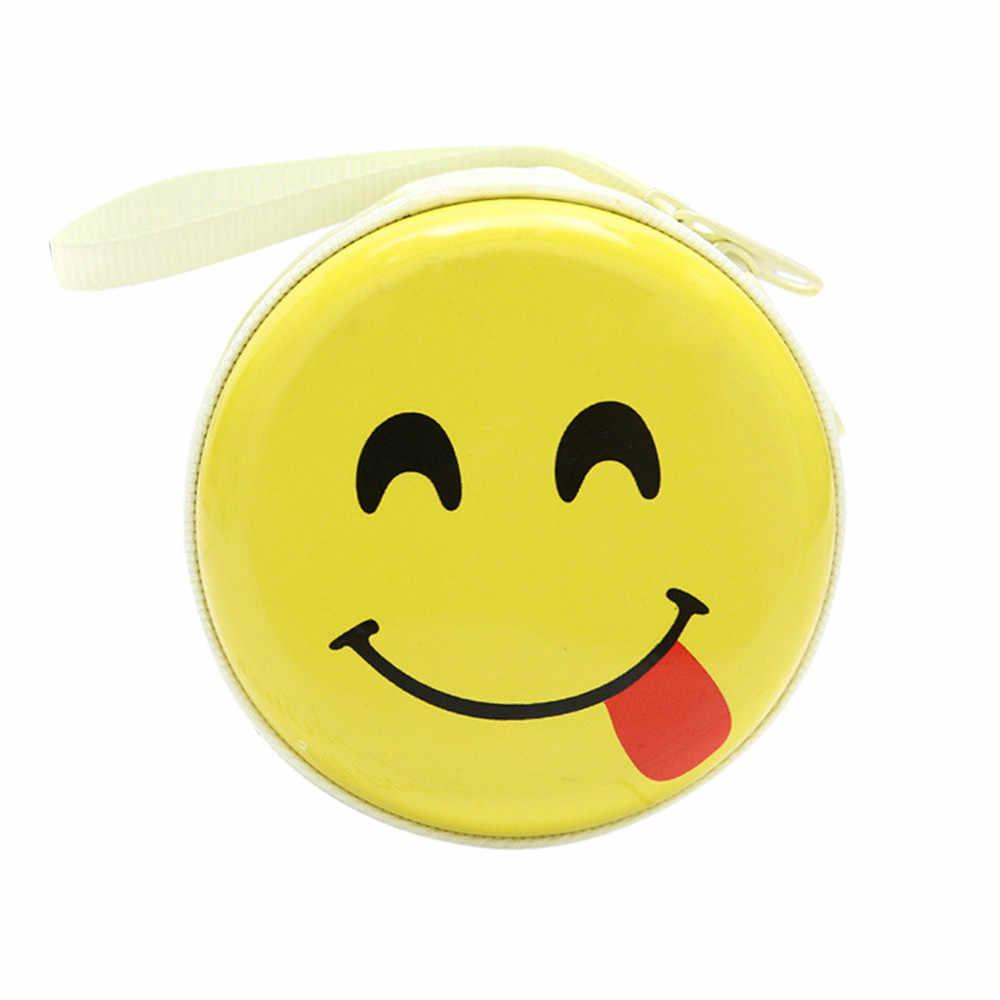 Mini Expressão Bonito Elements Rodada Headset Bolsa Carteira Bolsa Da Moeda da Carteira Bolsa Moda Mulher Pequena bolsa Com Zíper bolsa da moeda da Carteira