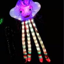 Мягкий latawiec воздушный змей vlieger Ночная Светодиодная лампа воздушные змеи для взрослых мощность по прейс-cometas ветрового стекла бумажный змей в форме осьминога весело Фабричный светильник