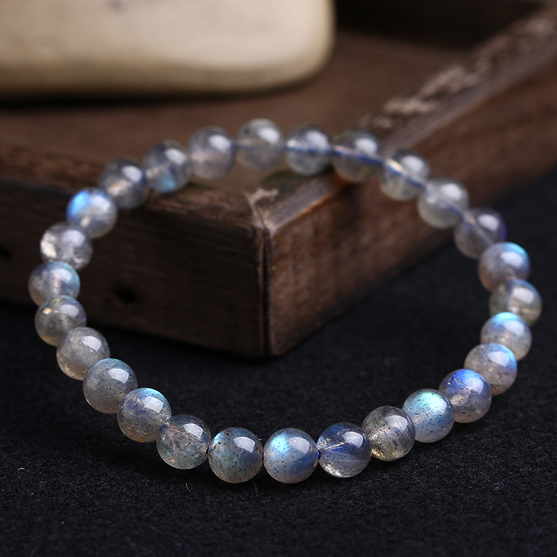 Aladdin promotions products Natural Grey moonlight bracelet High quality labradorite women's hand strings Ethnic Elements