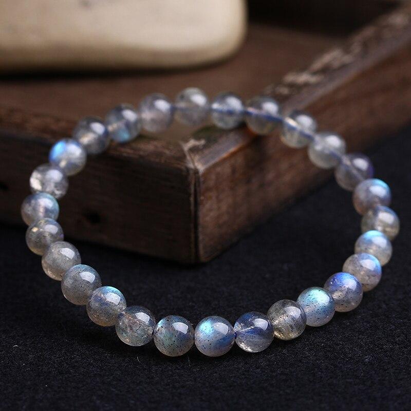 Aladdin promotions produits Naturel Gris clair de lune bracelet Haute qualité labradorite main de femmes cordes Ethniques Éléments