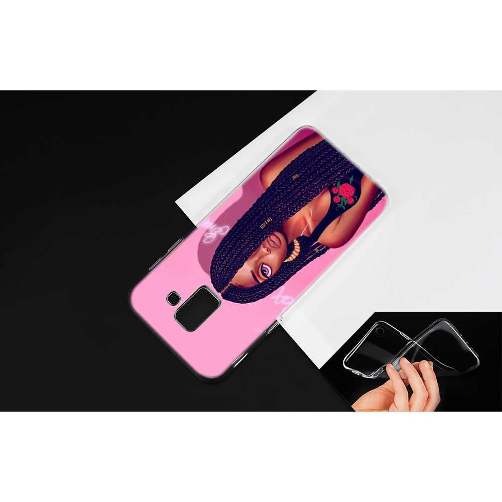 Чехол для samsung Galaxy Note 8, 9, J4, J6, J8, A6, A8, A7, A9, Star Lite, S8, S9 Plus, 2018, черный, женский, художественный чехол с забавным принтом, Capa