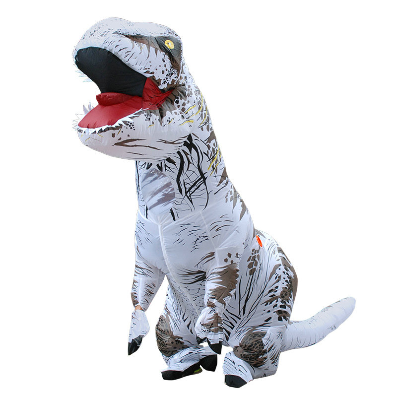 Adult White Brown Red G T-REX INFLATABLE Dinosaur Costume Fancy Dress Cosplay Animal Jumpsuit Halloween Costumes Carnival