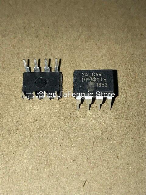 50 قطعة ~ 100 قطعة/الوحدة PIC24LC64 I/P 24LC64 DIP8 جديد الأصلي